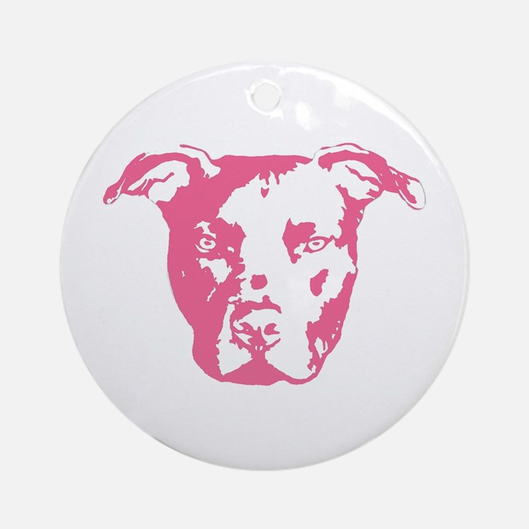 American Pit Bull Terrier Ornament (Round)