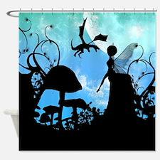 Cute little fairy Shower Curtain
