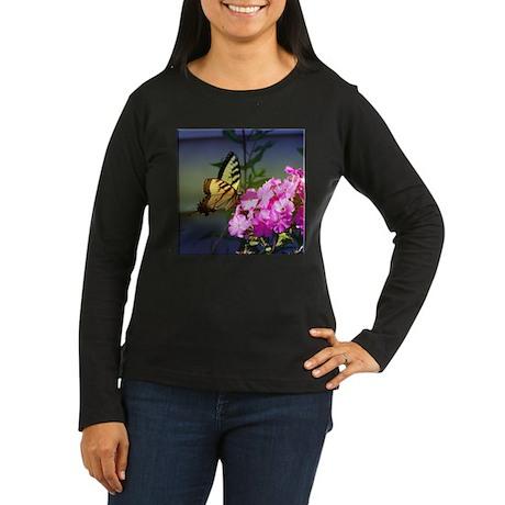 Blue Tiger Swallowtail Women's Long Sleeve Dark T-