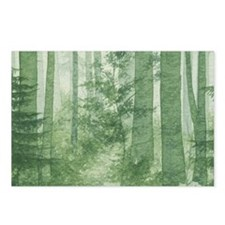 Green Misty Forest Postcards (Package of 8)