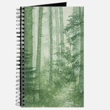 Green Misty Forest Journal