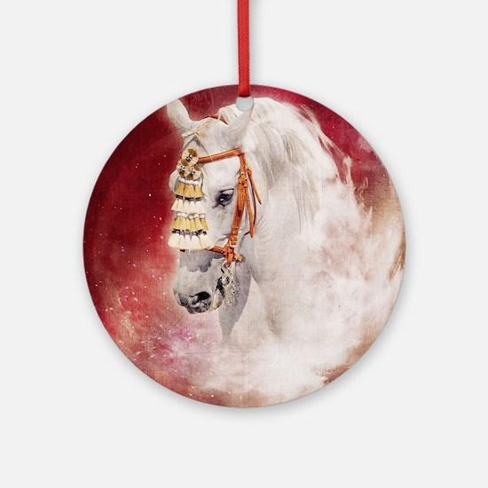 Circus Horse Round Ornament