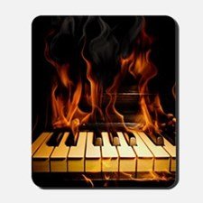 Burning Piano Mousepad