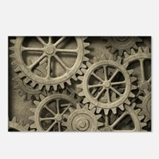 Steampunk Cogwheels Postcards (Package of 8)