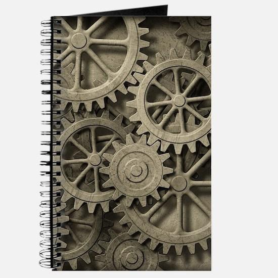 Steampunk Cogwheels Journal
