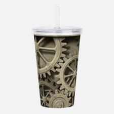 Steampunk Cogwheels Acrylic Double-wall Tumbler