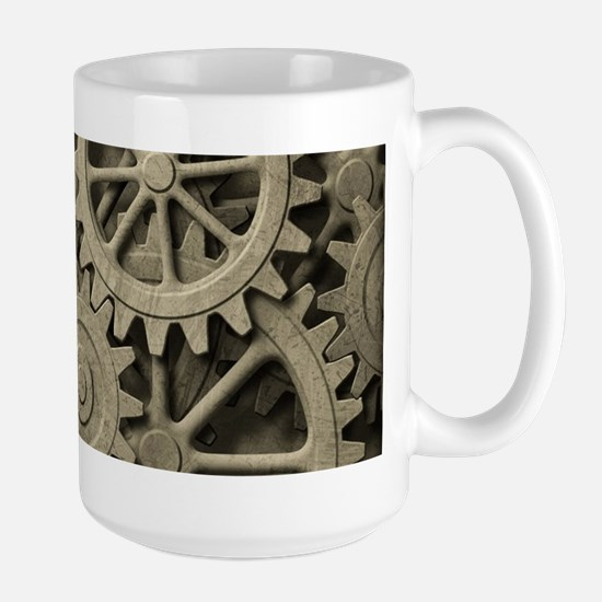 Steampunk Cogwheels Large Mug
