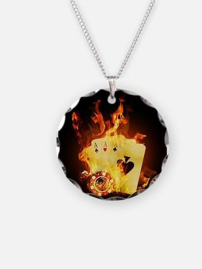 Burning Poker Necklace