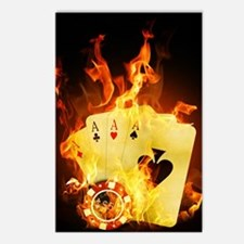 Burning Poker Cards . Postcards (Package of 8)