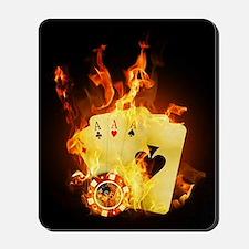 Burning Poker Cards . Mousepad