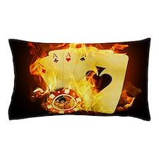 Burning Poker Cards . Pillow Case