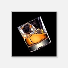 """Whisky on the Rocks Square Sticker 3"""" x 3"""""""