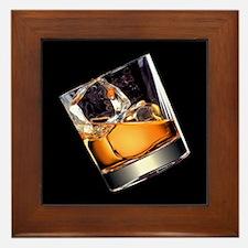 Whisky on the Rocks Framed Tile