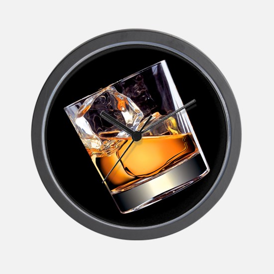 Whisky on the Rocks Wall Clock
