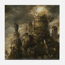 Gothic Castle Tile Coaster
