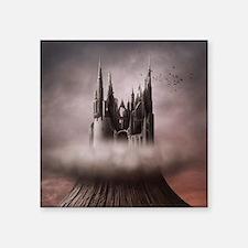 """Gothic Castle Ruins Square Sticker 3"""" x 3"""""""