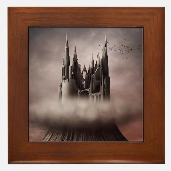 Gothic Castle Ruins Framed Tile