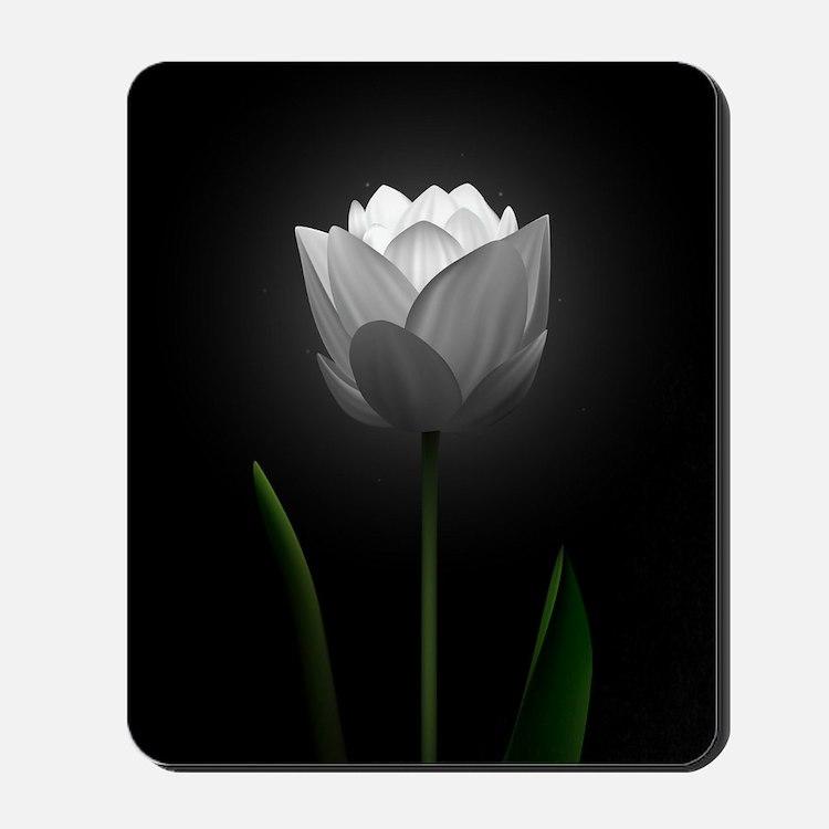 White Tulip Mousepad