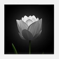 White Tulip Tile Coaster