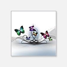 "Colorful Butterflies Square Sticker 3"" x 3"""