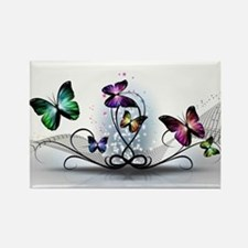 Colorful Butterflies Rectangle Magnet