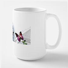 Colorful Butterflies Large Mug