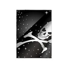 Sparkling Pirate Flag 5'x7'Area Rug