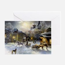 Russian Winter Painting Greeting Card