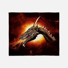 Plasma Dragon Throw Blanket