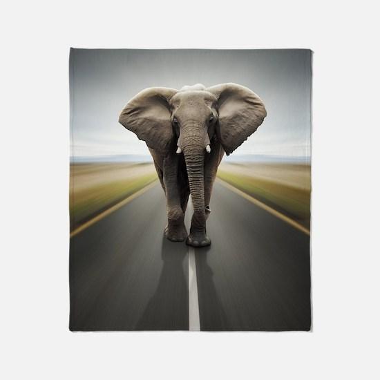Elephant Trucker Throw Blanket