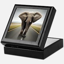 Elephant Trucker Keepsake Box