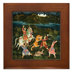 The Hunting Party Framed Tile