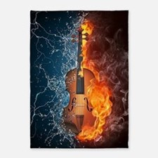 Fire and Water Violin 5'x7'Area Rug