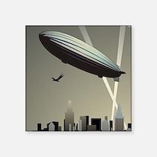 "Zeppelin Skyline Square Sticker 3"" x 3"""