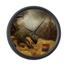 Dragon Treasure Large Wall Clock