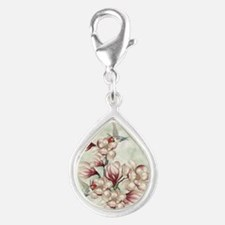 Magnolia Colibries Silver Teardrop Charm