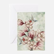 Magnolia Colibries Greeting Card
