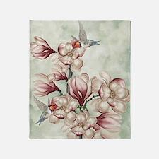 Magnolia Colibries Throw Blanket
