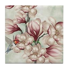 Magnolia Colibries Tile Coaster