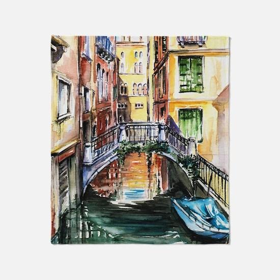 Summer in Venice Throw Blanket