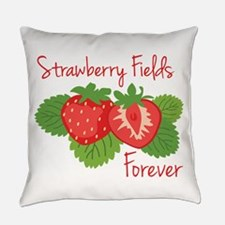 Strawberry Fields Forever Everyday Pillow