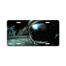 Cosmonaut Outlook Aluminum License Plate