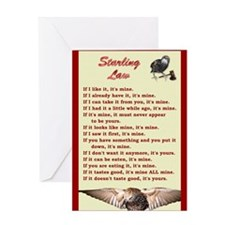 Starling Law Greeting Card