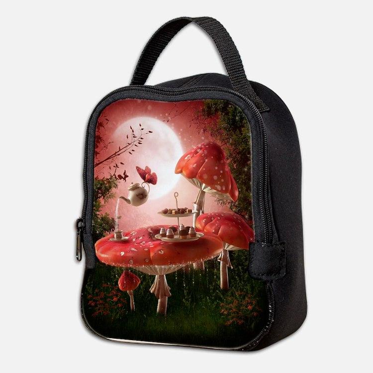 Surreal Tea Party Neoprene Lunch Bag