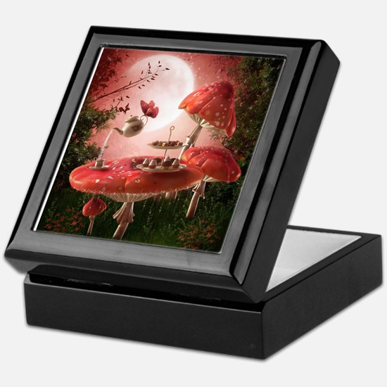 Surreal Tea Party Keepsake Box