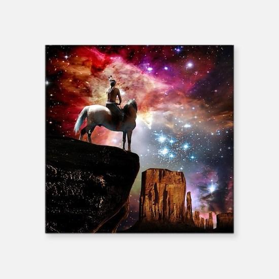 """Native American Universe Square Sticker 3"""" x 3"""""""