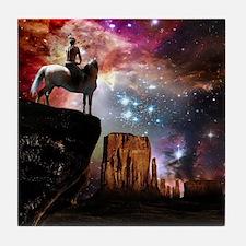 Native American Universe Tile Coaster