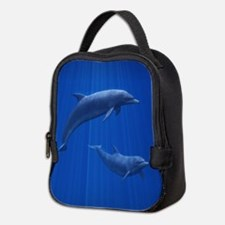 Dolphin Couple Neoprene Lunch Bag