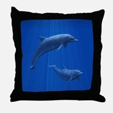 Dolphin Couple Throw Pillow