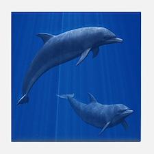 Dolphin Couple Tile Coaster